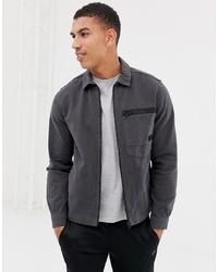 Jack & Jones Core Shirt Jacket In Heavy Cotton Twill