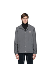 MAISON KITSUNÉ Grey Bertil Fox Head Jacket