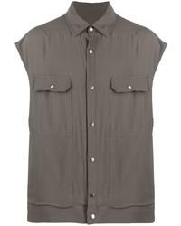 Rick Owens Button Up Sleeveless Shirt