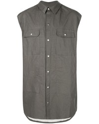 Rick Owens Oversized Sleeveless Shirt