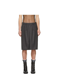 Random Identities Grey Elasticized Skirt Shorts