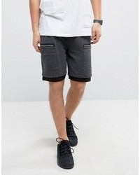 Asos Jersey Shorts With Zip Pockets