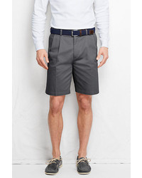 Classic No Iron 9 Pleat Front Comfort Waist Chino Shorts Steeple Gray40