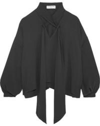 Balenciaga Silk Blouse Dark Gray