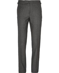 Charcoal Silk Dress Pants
