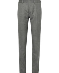 Dunhill Slim Fit Wool Mulberry Silk And Linen Blend Trousers