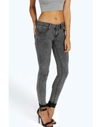 Boohoo Zoey Charcoal Skinny Jean