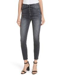 Alice + Olivia Jeans Good Exposed Button Skinny Jeans