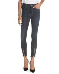 Frame Le High Curve Split Hem Skinny Jeans