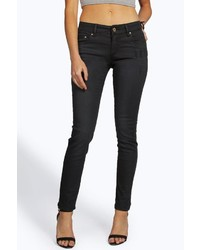 Boohoo Lissa Light Distressed Low Rise Skinny Jeans