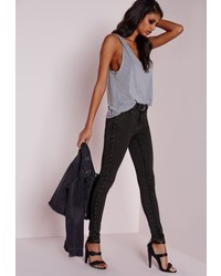 4bcb5557a071 Women's Charcoal Jeans by Missguided | Women's Fashion | Lookastic.com