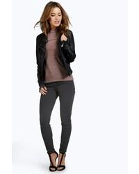 Boohoo Petite Kimberley Ankle Grazer Skinny Jeans