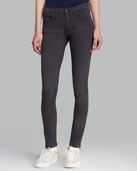 Rag and Bone Rag Bonejean Jeans The Skinny In Distressed Charcoal