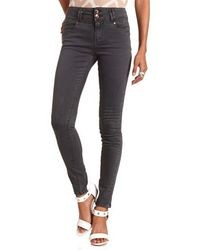 Charlotte Russe Refuge High Waisted Colored Skinny Jeans