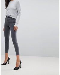 ASOS DESIGN Ridley High Waist Skinny Jeans In Grey