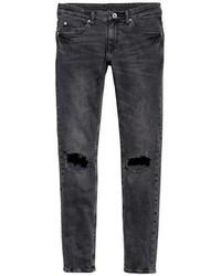 H&M Super Skinny Trashed Jeans