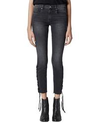BLANKNYC The Reade Lace Up Hem Crop Skinny Jeans