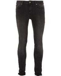 Topman Charcoal Spray On Skinny Jeans