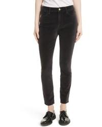 Velveteen high waist skinny pants medium 5209073