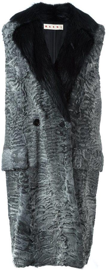 Marni Fur Sleeveless Coat