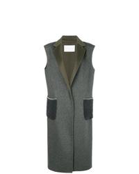 Fabiana Filippi Sleeveless Single Breasted Coat
