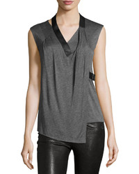Side tab draped sleeveless top mercury medium 736152