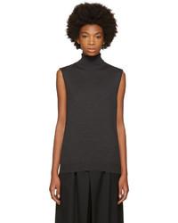 Grey sleeveless turtleneck medium 5081940