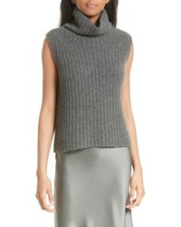 Vince Sleeveless Cashmere Blend Turtleneck