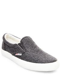 Superga Wool Rich Slip On Sneakers