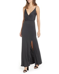 ALL IN FAVO R Surplice Neck Knit Maxi Dress