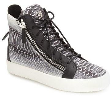 ... Giuseppe Zanotti Snake Print High Top Sneaker ...
