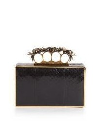 Snakeskin knuckle box clutch medium 523578
