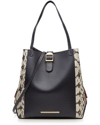 Leather and snakeskin tote medium 528168
