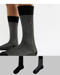 Tommy Hilfiger 2 Pack Sock In Birdseye