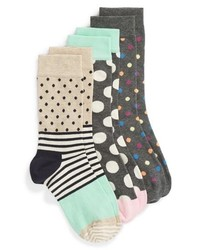 Happy Socks 3 Pack Dot Crew Socks