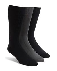 Calvin Klein 3 Pack Microfiber Socks