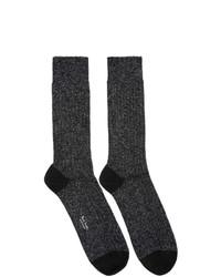 Paul Smith Black And Silver Glitter Rib Socks
