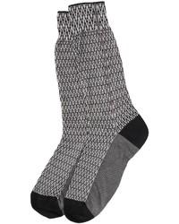Haider Ackermann Cotton Silk Blend Jacquard Socks
