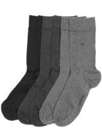 Calvin Klein Dressy Flat Ribbed 3 Pack Socks