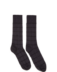Issey Miyake Men Grey Block Socks