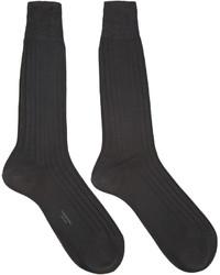 Thom Browne Grey Cotton Socks