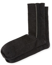 Monili trim stretch cashmere socks gray medium 3741425