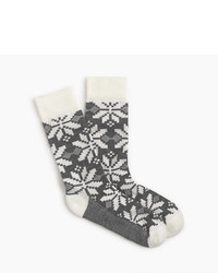 J.Crew Snowflake Mountain Socks