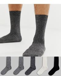 New Look Socks In Mono 5 Pack