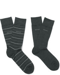 Hugo Boss Two Pack Stretch Cotton Blend Socks