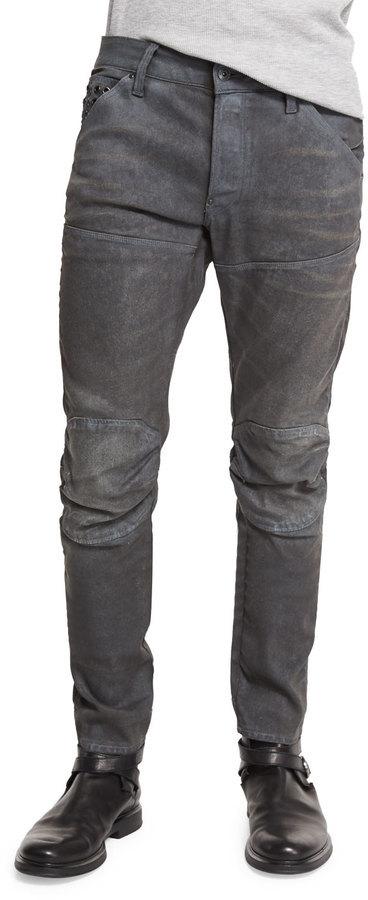 on sale 577d2 5aee4 $290, G Star G Star 5620 3d Slim Fit Studded Moto Jeans Dark Aged Cobbler