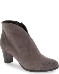 Charcoal Studded Suede Ankle Boots