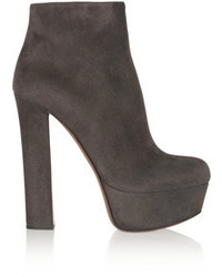 Charcoal Suede Ankle Boots