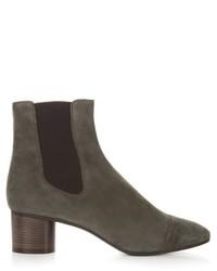 Isabel Marant Dan Block Heel Suede Ankle Boots