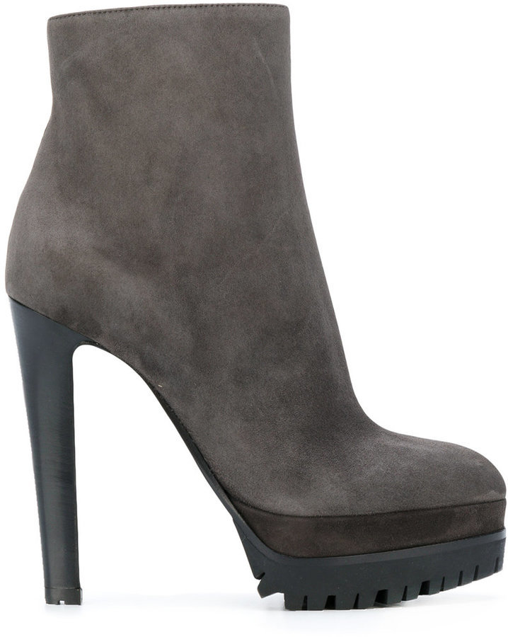 Sergio Rossi Heeled Platform Ankle Boots